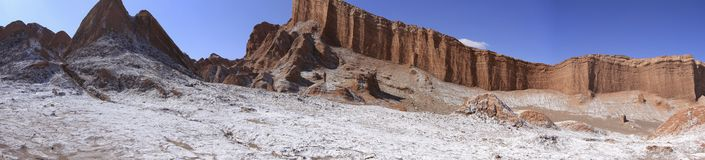 Valle del Luna - dolina księżyc w atacama, chile Zdjęcie Royalty Free