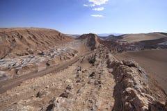 Valle del Luna - dolina księżyc w atacama, chile Obrazy Stock