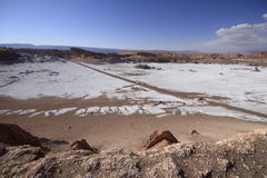 Valle del Luna - dolina księżyc w atacama, chile fotografia stock