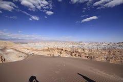 Valle del luna - vallei van de maan, in atacama, Chili royalty-vrije stock foto