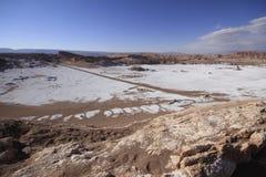 Valle del luna - vallei van de maan, in atacama, Chili royalty-vrije stock afbeeldingen