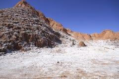 Valle del luna - vallei van de maan, in atacama, Chili royalty-vrije stock foto's