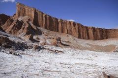 Valle del luna - vallei van de maan, in atacama, Chili royalty-vrije stock fotografie
