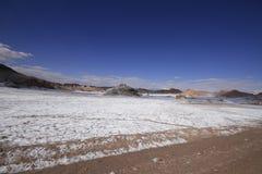 Valle del luna - vallei van de maan, in atacama, Chili stock afbeelding