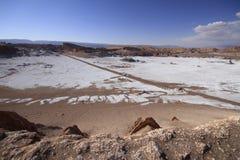 Valle del luna - vallei van de maan, in atacama, Chili stock fotografie