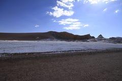 Valle del luna - vallei van de maan, in atacama, Chili stock afbeeldingen
