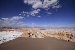 Valle del luna - valley of the moon, in atacama, chile Royalty Free Stock Photography