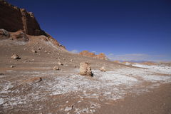 Valle del luna - valley of the moon, in atacama, chile Stock Image