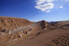 Valle del luna - valley of the moon, in atacama, chile Stock Photography