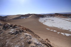 Valle del luna - valley of the moon, in atacama, chile Royalty Free Stock Photos