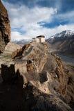 Valle del monasterio de Dhankar debajo de la vertical Foto de archivo