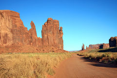 Valle del monumento Fotografía de archivo