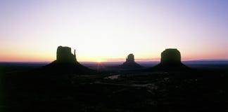 Valle del monumento ad alba Fotografie Stock