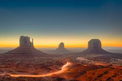 Valle del monumento, Arizona, S fotografia stock