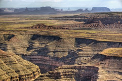 Valle del monumento dal punto di Muley Fotografie Stock Libere da Diritti