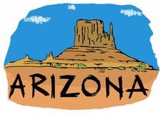 Valle del monumento de Arizona stock de ilustración
