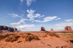 Valle del monumento. Desierto rojo. Foto de archivo libre de regalías