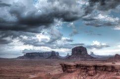 Valle del monumento. Desierto rojo. Fotografía de archivo libre de regalías