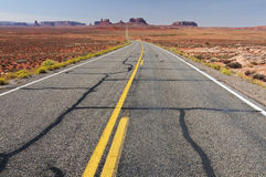 Valle del monumento nell'Utah, 163 da uno stato all'altro, S.U.A. Fotografia Stock Libera da Diritti