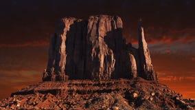 Valle del monumento, ovest americano, viaggio video d archivio