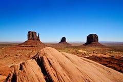 Valle del monumento, Utah, S fotografie stock libere da diritti