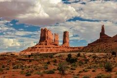 Valle del monumento, Utah, S Fotografia Stock Libera da Diritti