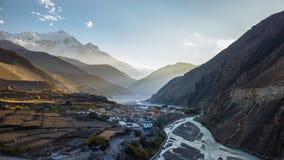 Valle del mustang del Nepal Fotografie Stock