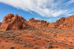 Valle del paesaggio Nevada del fuoco Fotografia Stock