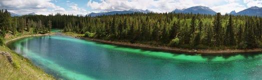 Valle del panorama de cinco lagos Imagen de archivo libre de regalías