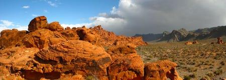 Valle del panorama del fuego Foto de archivo libre de regalías