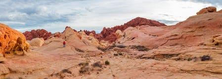 Valle del panorama del fuego Imagen de archivo libre de regalías