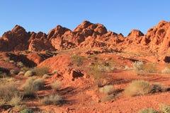 Valle del parco di stato del fuoco, Nevada Fotografia Stock Libera da Diritti