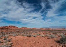 Valle del parco di stato del fuoco Nevada Immagini Stock Libere da Diritti