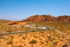 Valle del parco di stato del fuoco, Nevada, U Immagine Stock