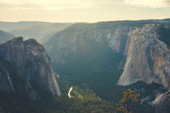 Valle del parco nazionale di Yosemite, California, U.S.A. Immagine Stock