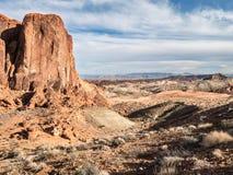 Valle del parque de estado del fuego, Nevada Foto de archivo libre de regalías