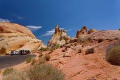 Valle del parque de estado del fuego, Nevada, Estados Unidos fotografía de archivo libre de regalías