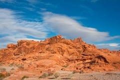 Valle del parque nacional del fuego en Nevada Fotografía de archivo libre de regalías