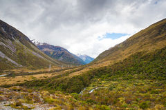 Valle del paso de Arturo, Nueva Zelanda Fotografía de archivo