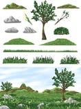 Valle del prado stock de ilustración