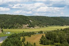 Valle del río Agide Imagen de archivo libre de regalías