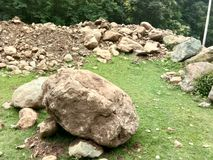 Valle del Roccia-Kashmir Fotografia Stock