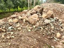 Valle del Roccia-Kashmir Immagine Stock Libera da Diritti