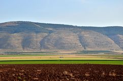 Valle del supporto Gilboa e di Harod fotografia stock