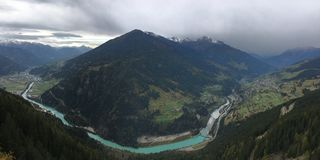 Valle del Tirol Foto de archivo