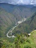 Valle del urubamba de Río en el picchu del machu Foto de archivo libre de regalías