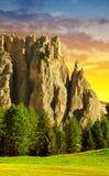 Valle del Vajolet in dolomia, alpi di Italien Fotografia Stock Libera da Diritti