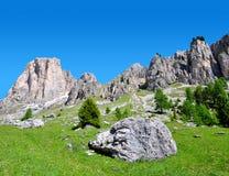 Valle del Vajolet in dolomia, alpi di Italien Immagini Stock Libere da Diritti