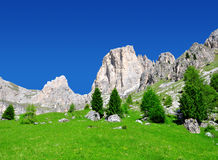 Valle del Vajolet in Dolomites,Italien Alps Royalty Free Stock Image