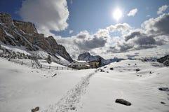 Valle del Val Gardena, Italia Immagine Stock Libera da Diritti